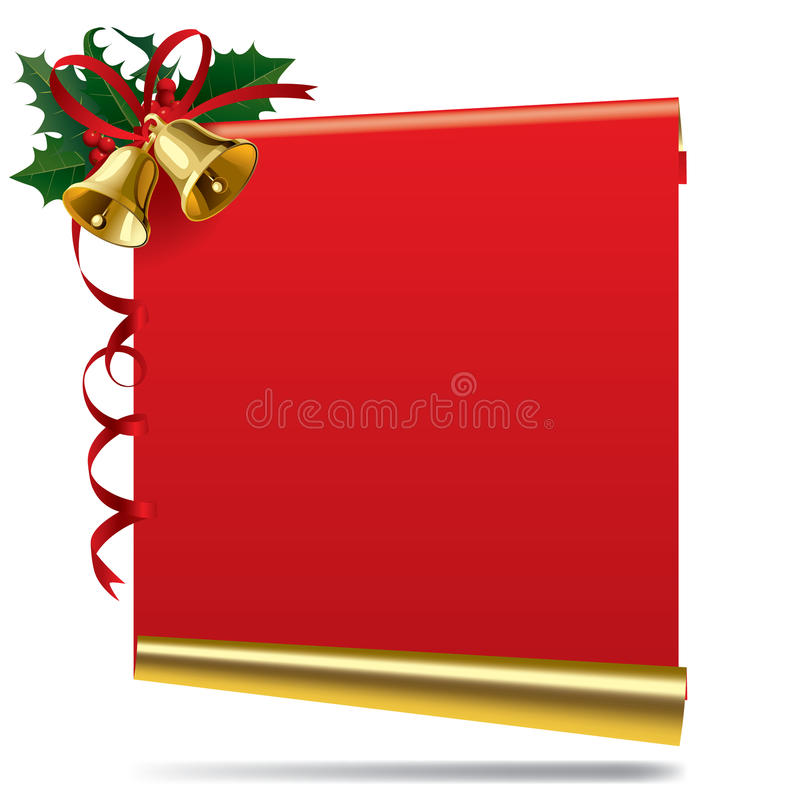 Download Christmas And  New Year Banner With A Bell Stock Vector - Illustration: 11515711