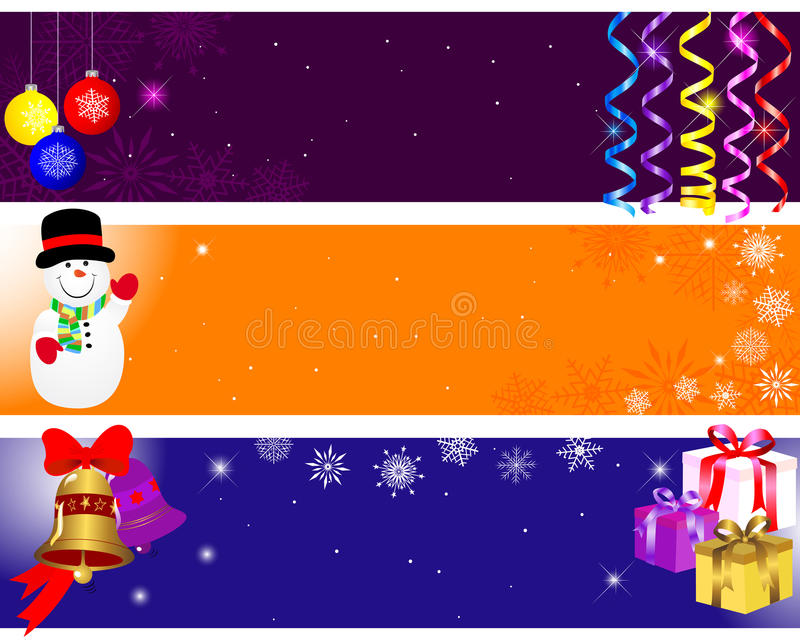 Christmas and new year banners. royalty free illustration