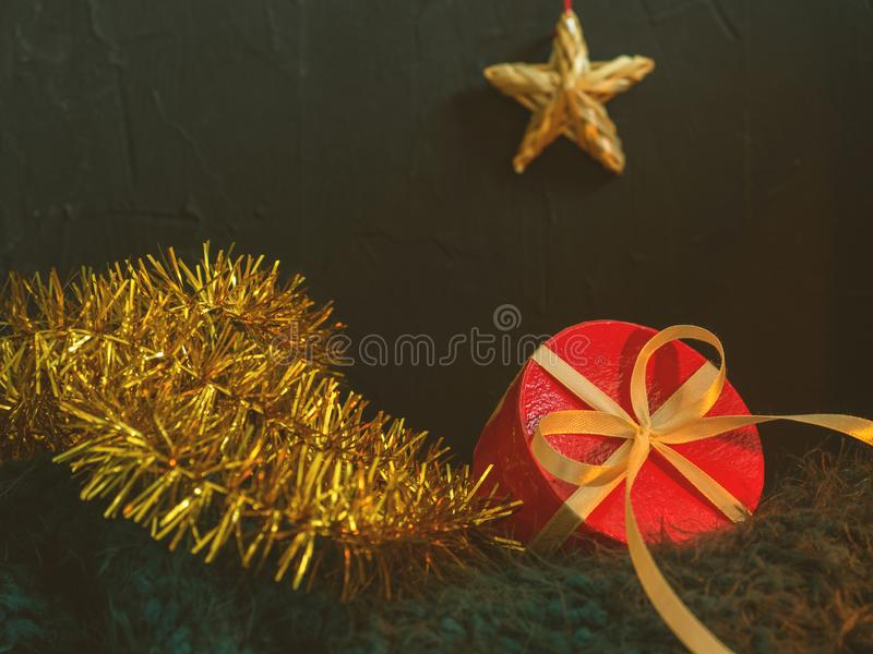 Christmas, New year beautiful fairy card, poster, still life. Holiday accessories. Conceptual background stock photos