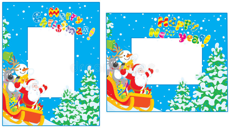 Download Christmas And New Year Borders Stock Photography - Image: 28087262