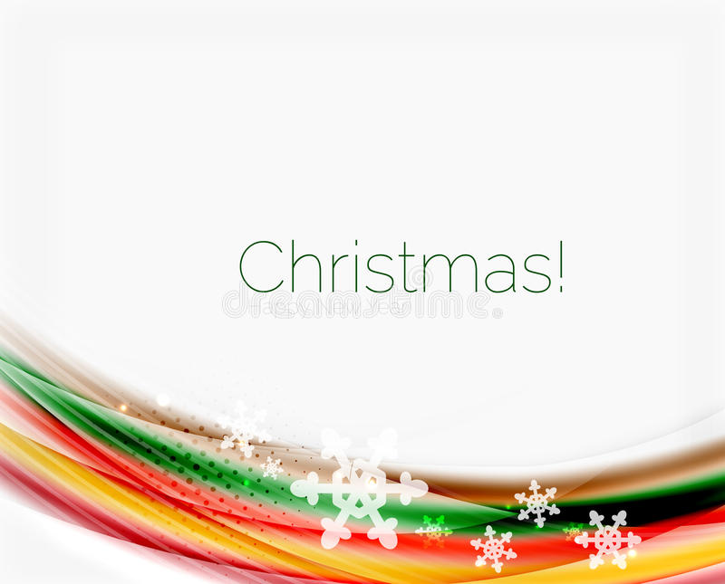 Christmas and New Year business wave template. Christmas and New Year business wave vector template stock illustration