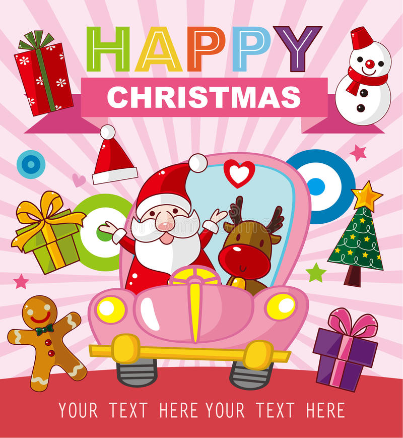 Download Christmas And New Year Card Stock Vector - Illustration: 33738854