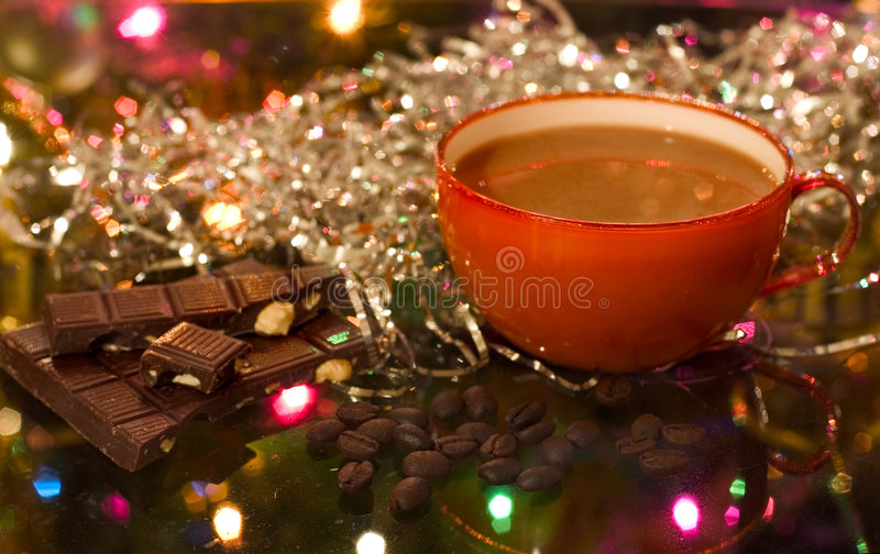 Download Christmas (new Year) Cup Of Coffee Stock Image - Image: 400233