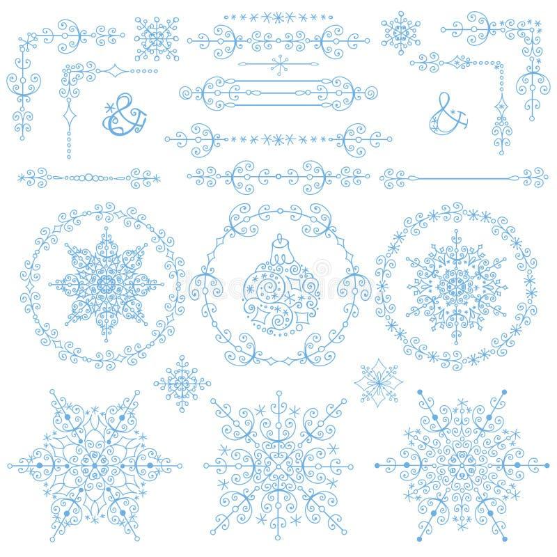 Christmas,New year decor set.Winter elements stock illustration