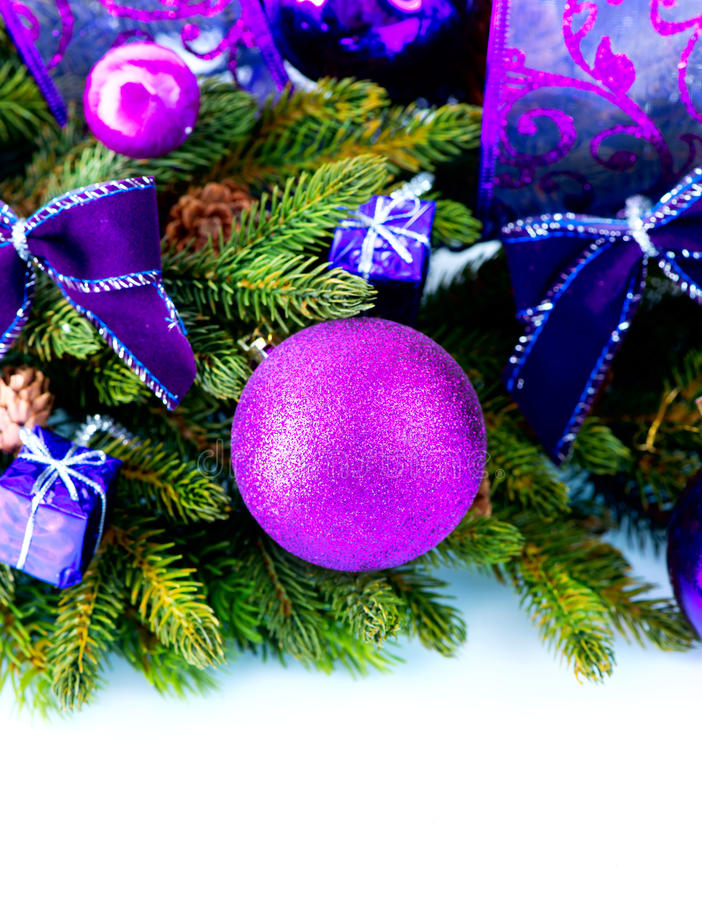 Christmas And New Year Decorations Royalty Free Stock Photos