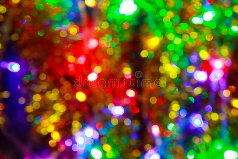 Christmas and New Year decorations, rain and toys stock image