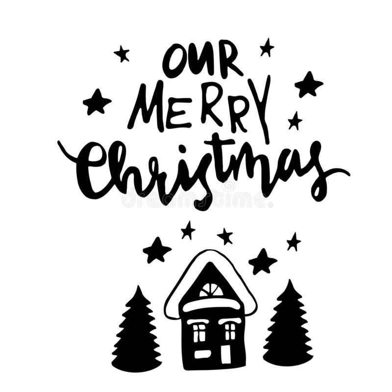 Christmas, New Year design elements. royalty free illustration
