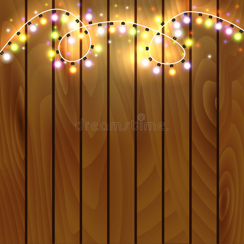 Christmas and New Year design on wooden background vector illustration