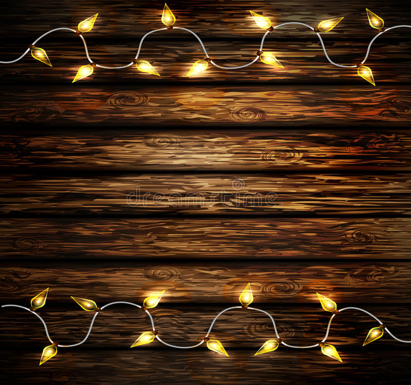 Christmas New Year design wooden background vector illustration