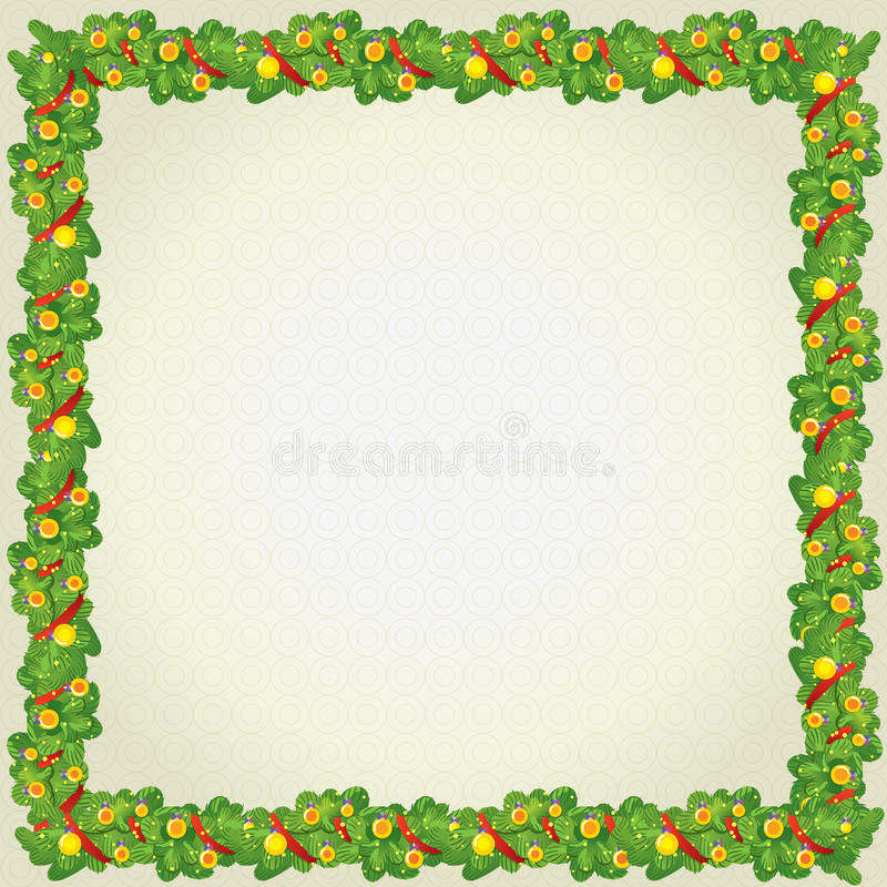 Christmas and New Year frame royalty free stock image