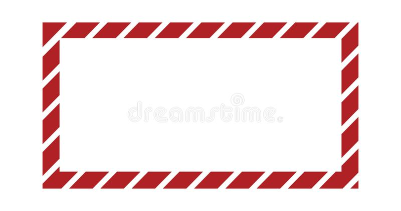 Christmas or new year frame with striped candy pattern. Vector template with copy space, border, banner for design. Cute Christmas or new year frame with vector illustration