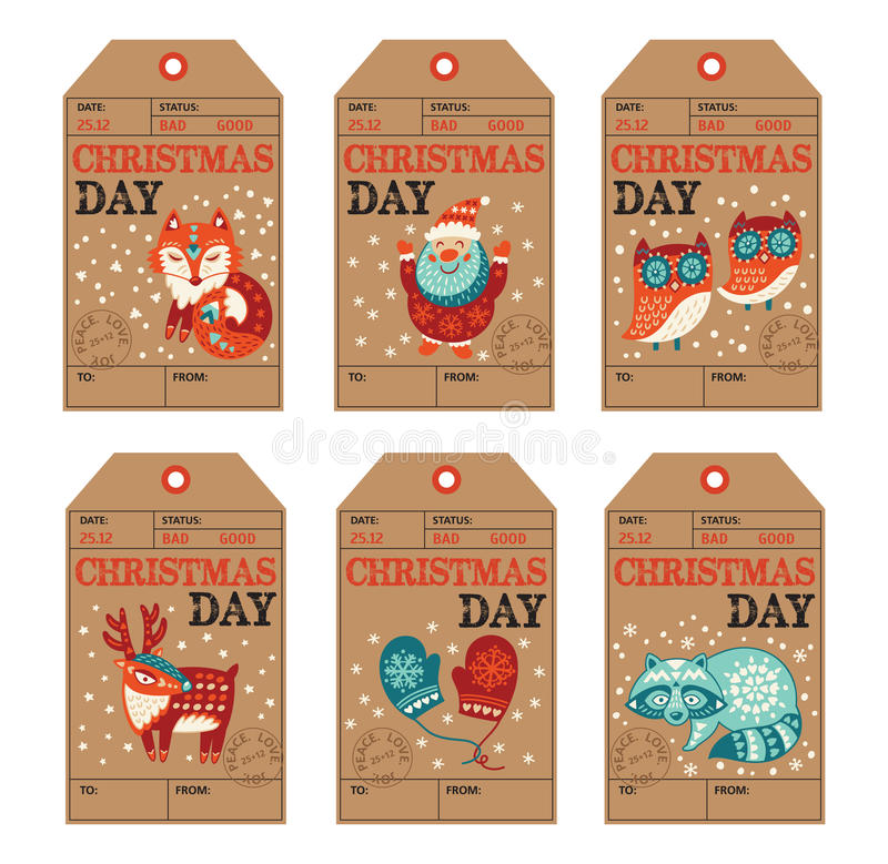 Christmas and new year gift tags stickers labels stock vector download christmas and new year gift tags stickers labels stock vector illustration of negle Images
