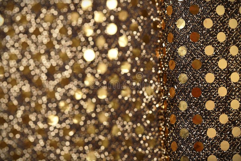 Christmas New Year Gold Glitter background. Holiday abstract texture fabric. Christmas New Year Gold Glitter background. Holiday abstract sparkling texture royalty free stock photos