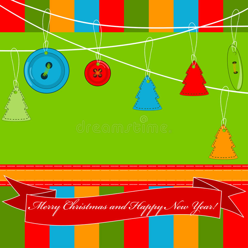 Download Christmas And New Year Greeting Card Stock Vector - Image: 25501727