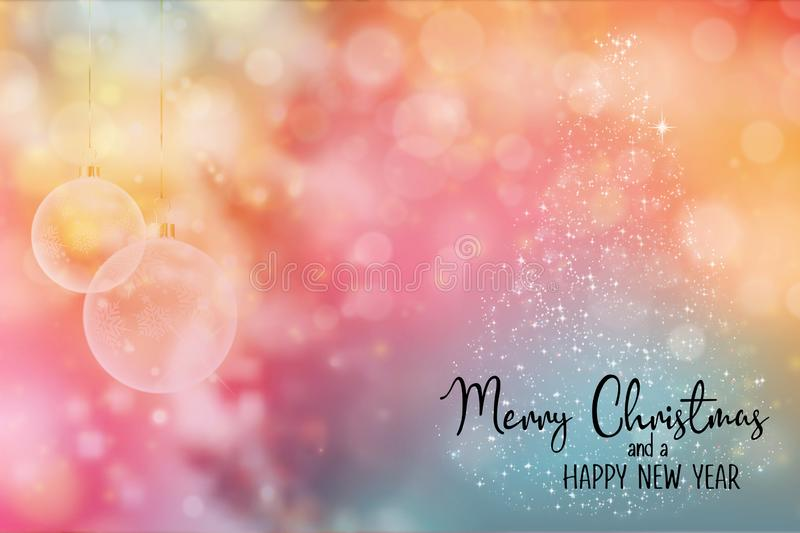 Christmas and New Year Holiday background. royalty free stock image