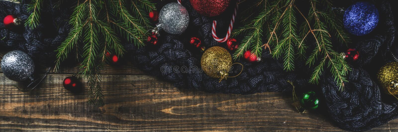 Christmas and New Year holidays background stock image