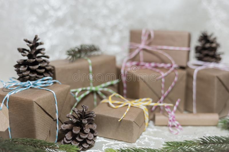 Christmas and New Year holidays background royalty free stock photos