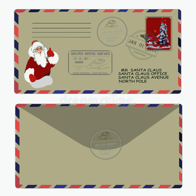 Christmas new year letter to santa claus template envelope letter to santa claus template envelope stamp pronofoot35fo Image collections