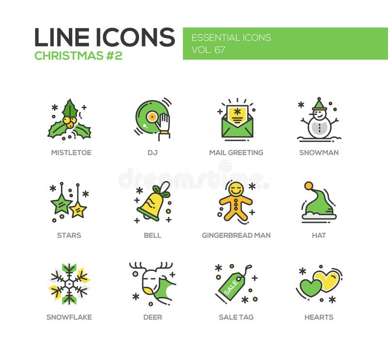 Christmas and new year line design icons set stock vector download christmas and new year line design icons set stock vector illustration of modern m4hsunfo