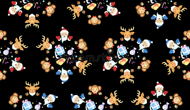 Christmas and New Year of the Monkey royalty free stock photography