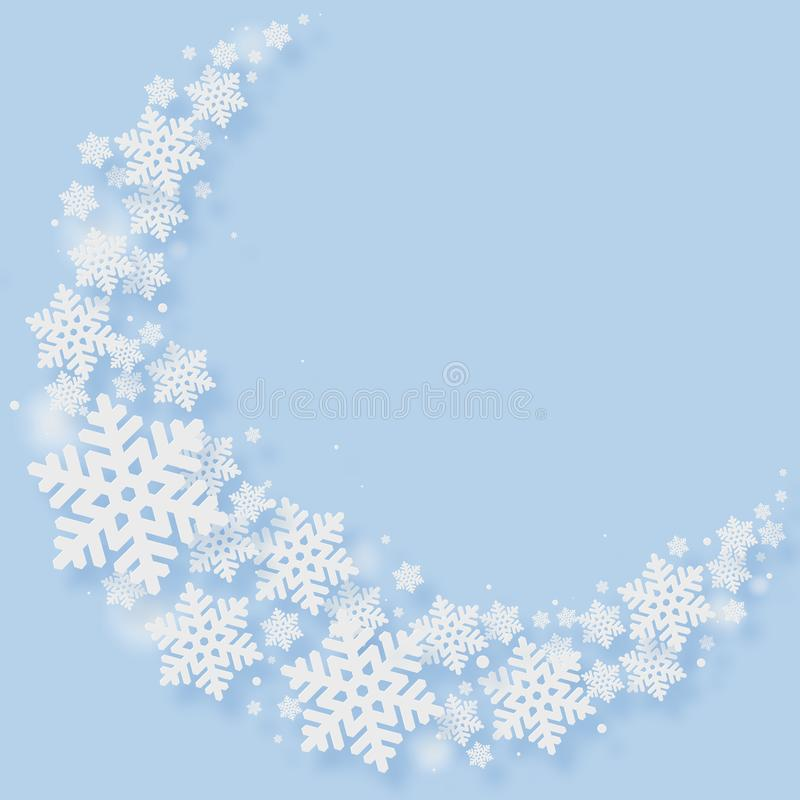 Christmas Paper Cutting Art Background vector illustration