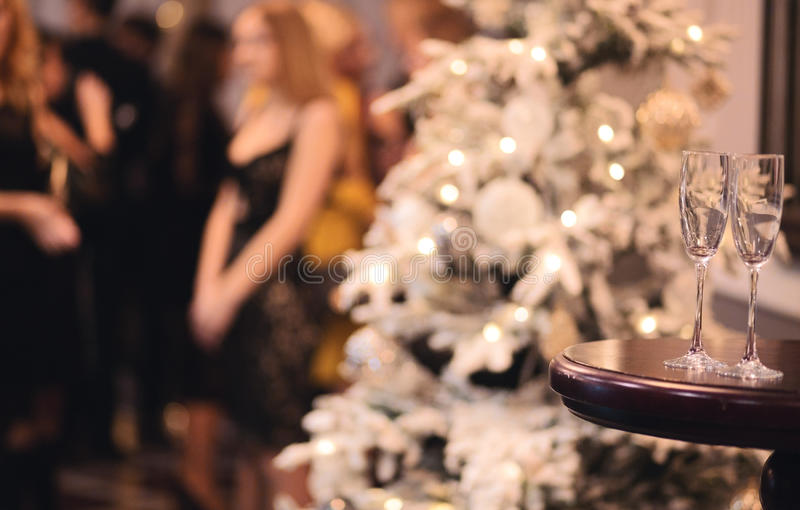 Download Christmas Or New Year Party Table With Champagne Stock Image - Image: 83710377