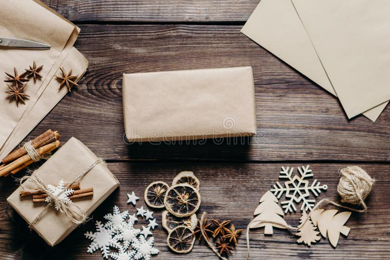 Christmas and New Year holiday background royalty free stock photography