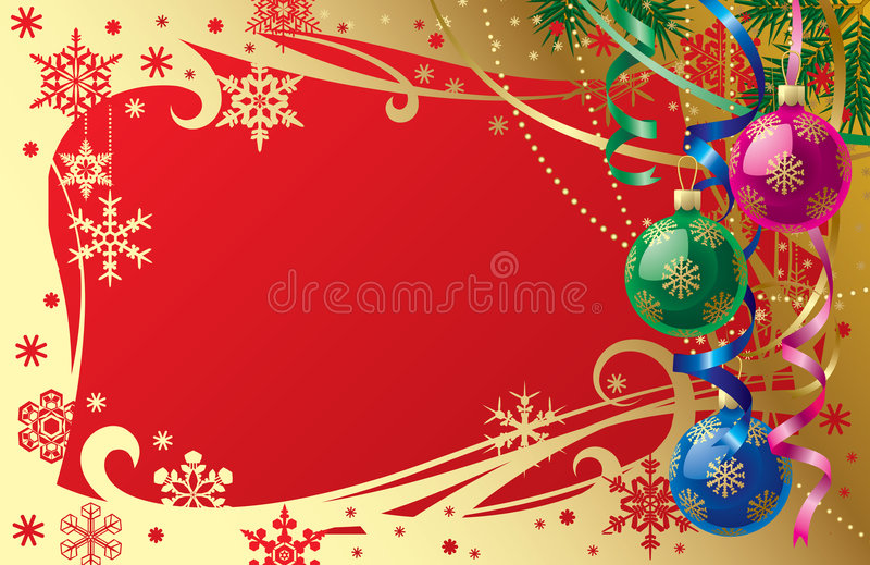 Christmas & New-Year's card stock illustration