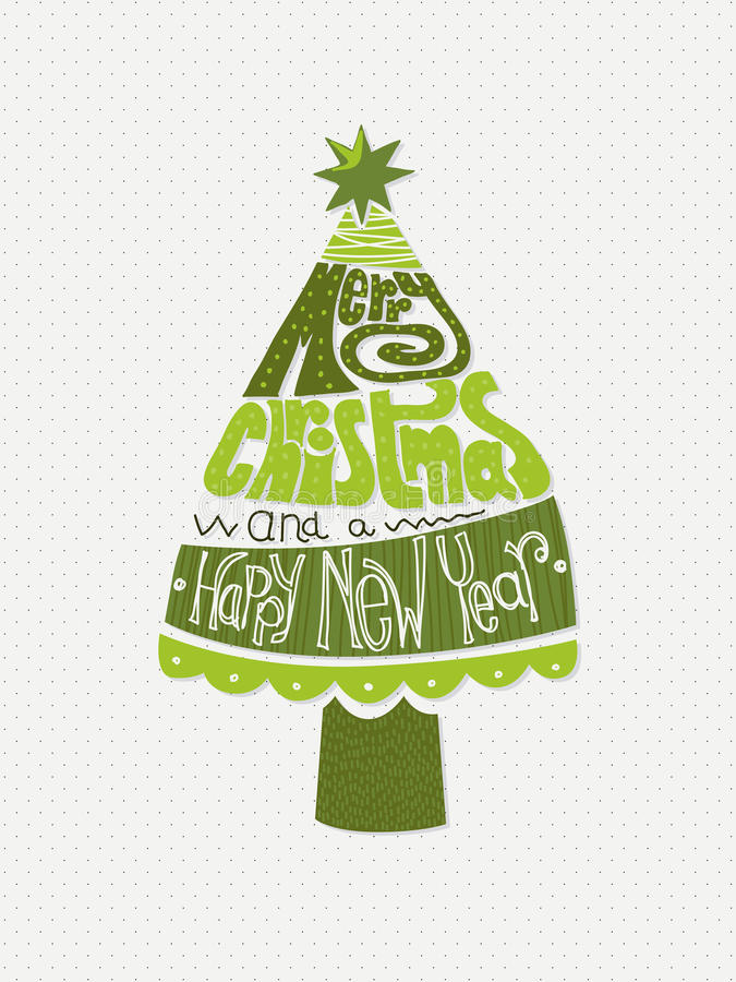 Christmas and New Year's card vector illustration