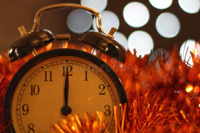 Christmas and new year's eve celebration and countdown stock photos