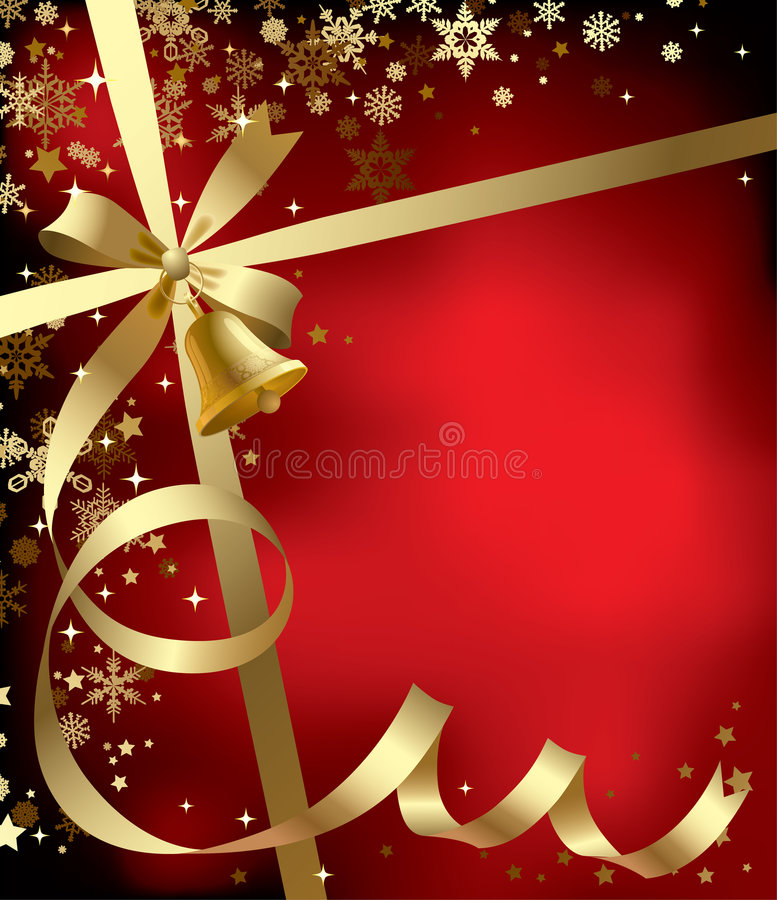 Christmas & New-Year's greeting background royalty free illustration