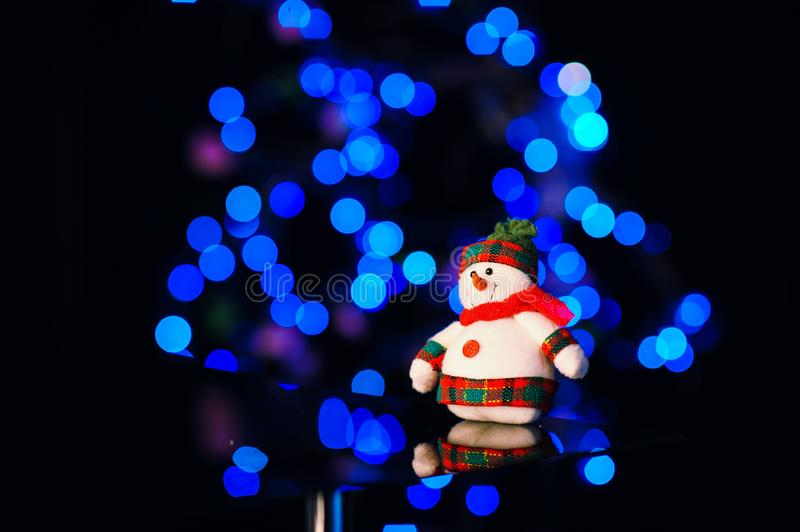 Christmas and New Year& x27;s toys on the Christmas tree. Happy, background, eve, holiday, celebrate, years, celebration, decoration, light, bright, night royalty free stock photos