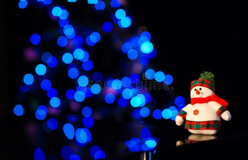 Christmas and New Year& x27;s toys on the Christmas tree. Happy, background, eve, holiday, celebrate, years, celebration, decoration, light, bright, night stock photo