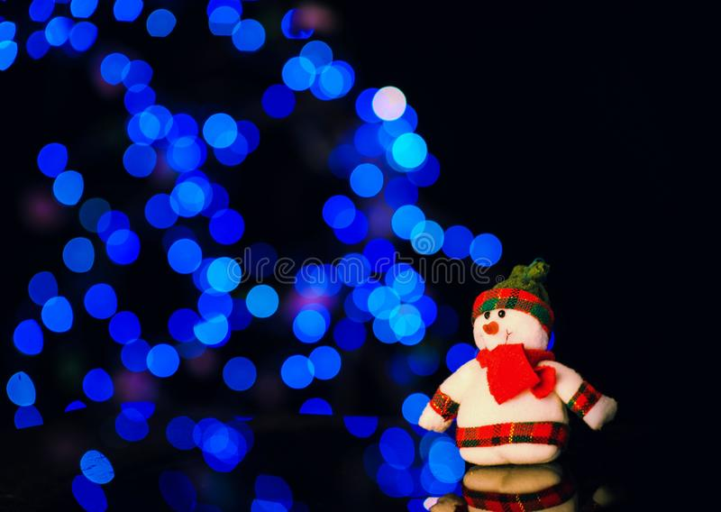 Christmas and New Year& x27;s toys on the Christmas tree. Happy, background, eve, holiday, celebrate, years, celebration, decoration, light, bright, night stock image