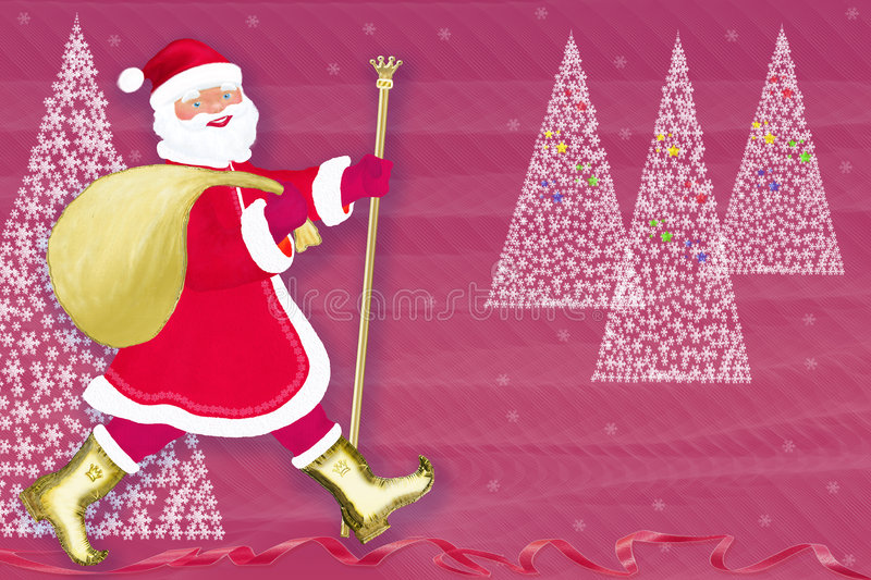 Download Christmas. New Year. Santa Claus Stock Illustration - Illustration of gold, snow: 7249046