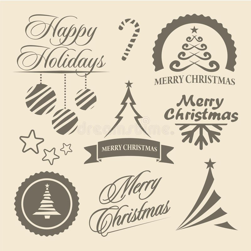Download Christmas And New Year Symbols And Design Elements Stock Vector - Image: 33990031