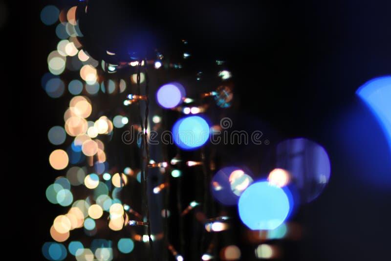 Christmas New Year tree christmas lights mirror royalty free stock photos