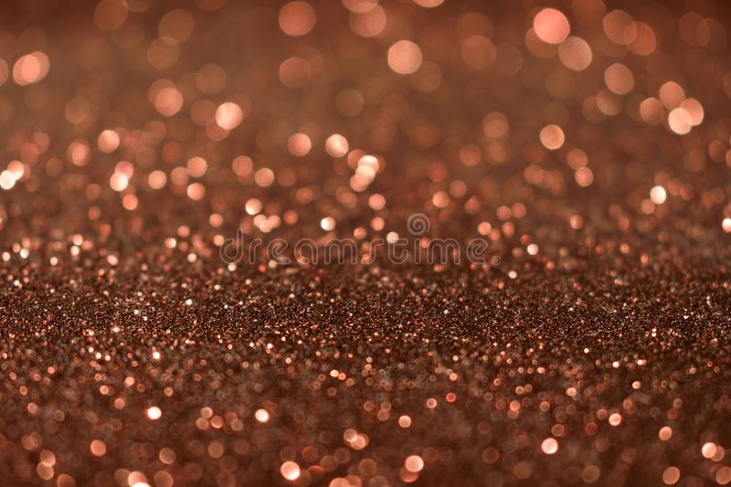 Christmas New Year Valentine Day Brown Glitter background. Holiday abstract texture fabric. Element, flash. royalty free stock photos