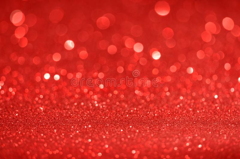 Christmas New Year Valentine Day Red Glitter background. Holiday abstract texture fabric. Element, flash. stock photo