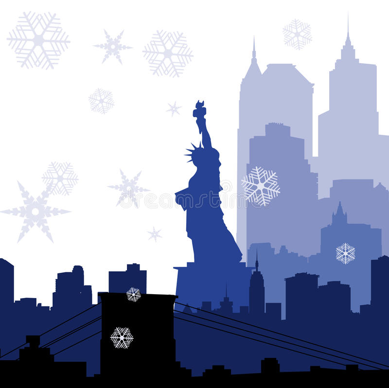Download Christmas New York Silhouettes Stock Vector - Image: 17161066