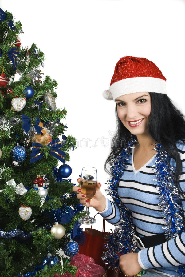 Download Christmas night stock image. Image of clothes, garland - 7139209