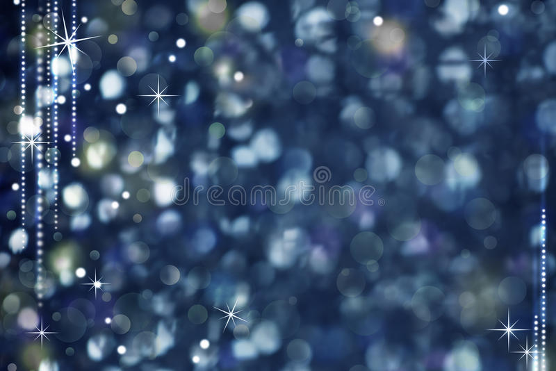 Christmas Night Abstract Background - Glittering Light and Stars stock image