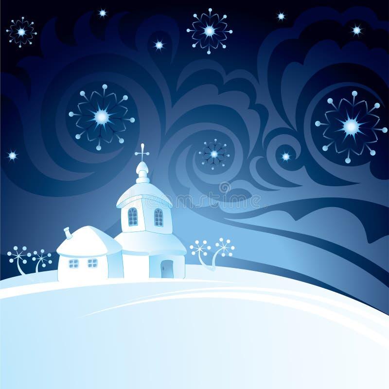 Christmas Night Background Stock Photos