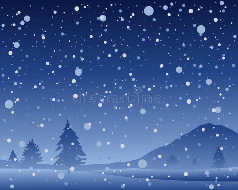 Download Christmas night stock vector. Image of snowflakes, scenic - 33150000