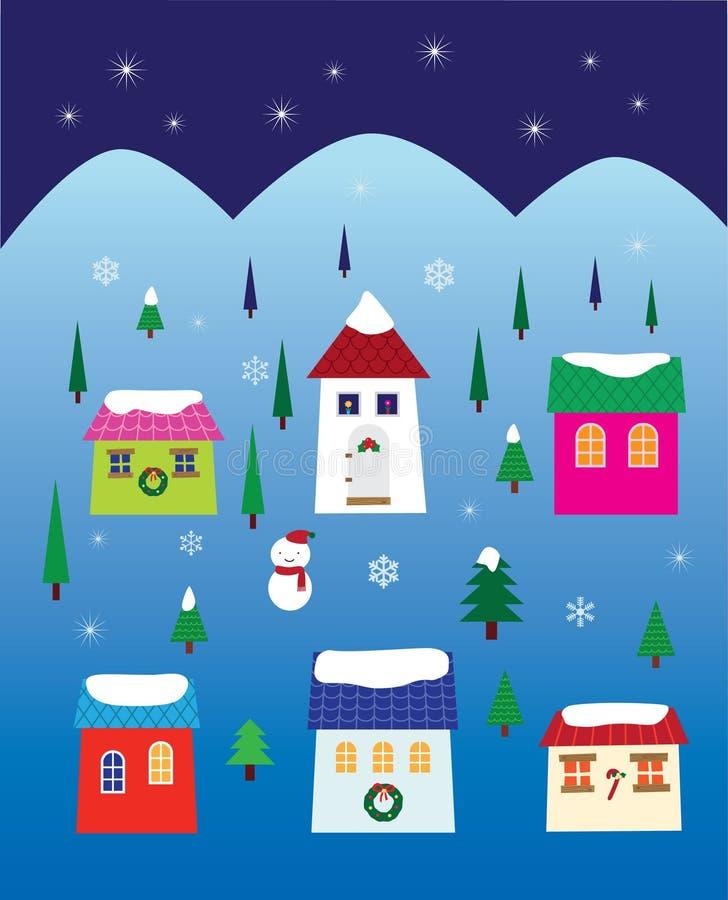 Download Christmas Night Neighbourhood Stock Vector - Image: 11307251