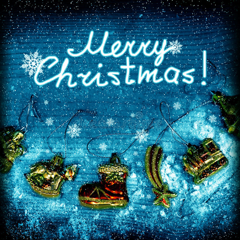 Christmas night picture stock photography