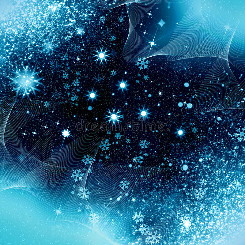 Christmas night snowflakes royalty free stock photos