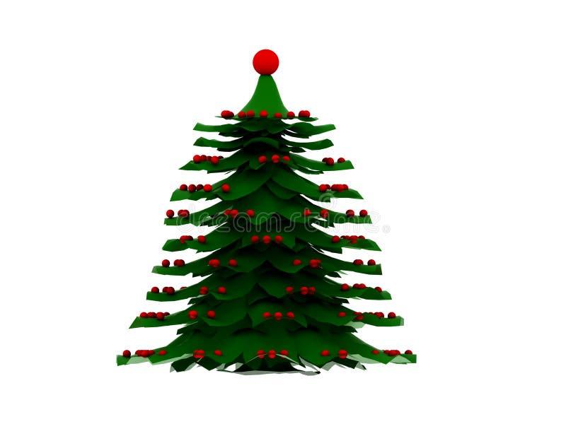Christmas Nodel Tree royalty free illustration