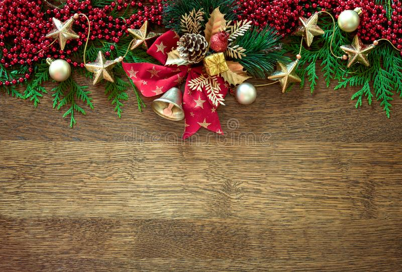 Christmas or Noel background with blank space for greetings royalty free stock photo