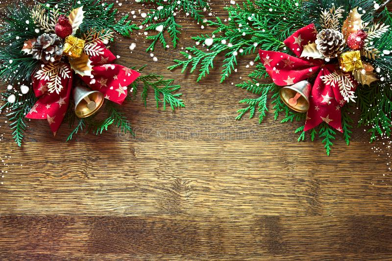 Christmas or Noel background with blank space for greetings stock image